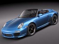 3d porsche 911 speedster 2011