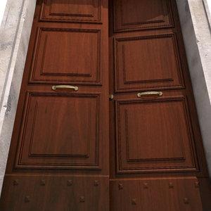 doorway door 3d max