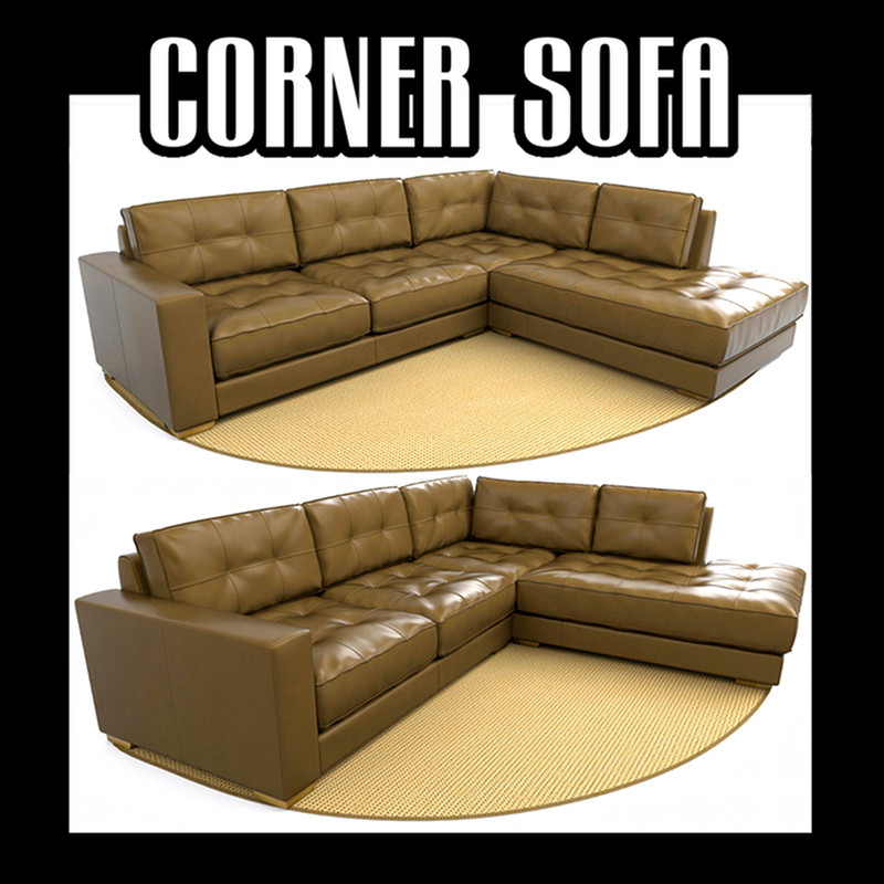sectional corner sofa 3d model