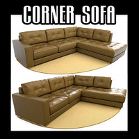 sectional corner sofa 3d model