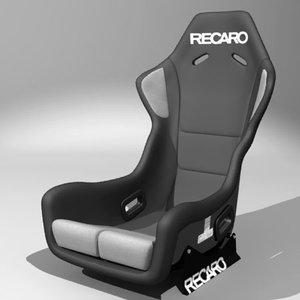 3d recaro profi spa racing seat model