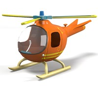 rescue helicopter toy 3d model