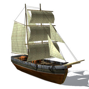 3ds max ship sail sailship