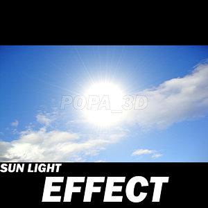 3d sun light effects