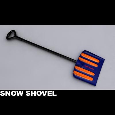 snow shovel 3d model