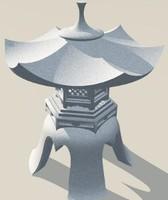 maya stone lantern