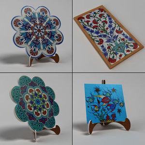 decorative ceramic tile 3ds