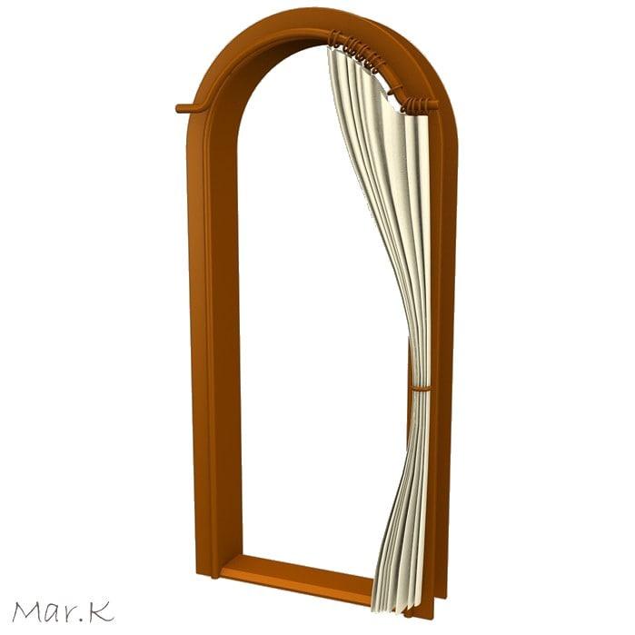 maya wooden portal