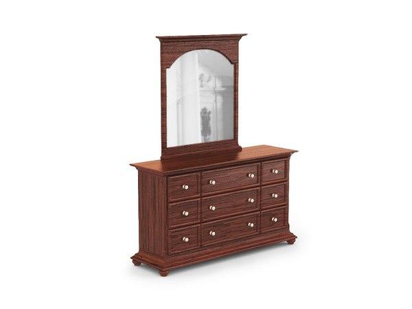 3ds max classic dresser mirror