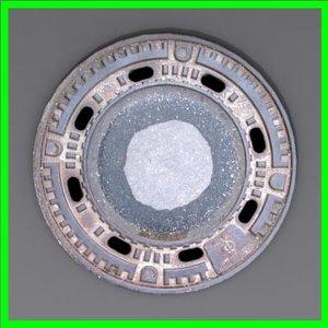 3d model of modeled sewer grate