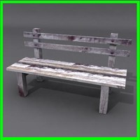 3d bench ready modeled model