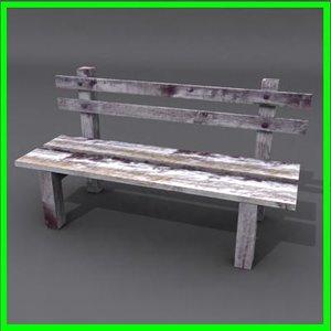3d bench ready modeled model