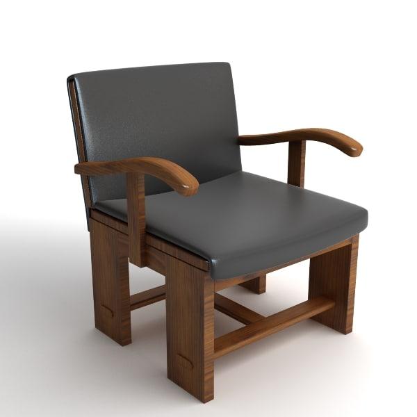 italian chair armchair 3d 3ds