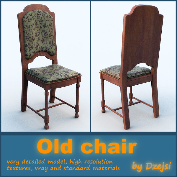 3d model old chair