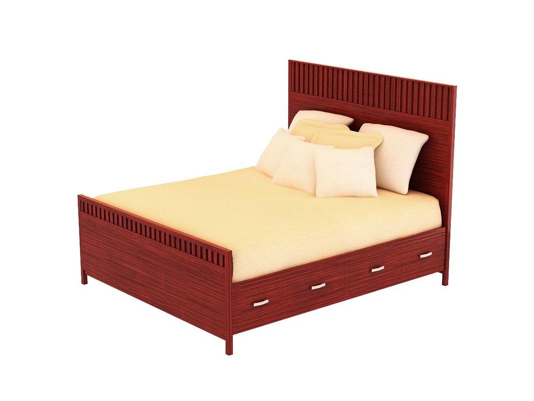 3d model vista bed