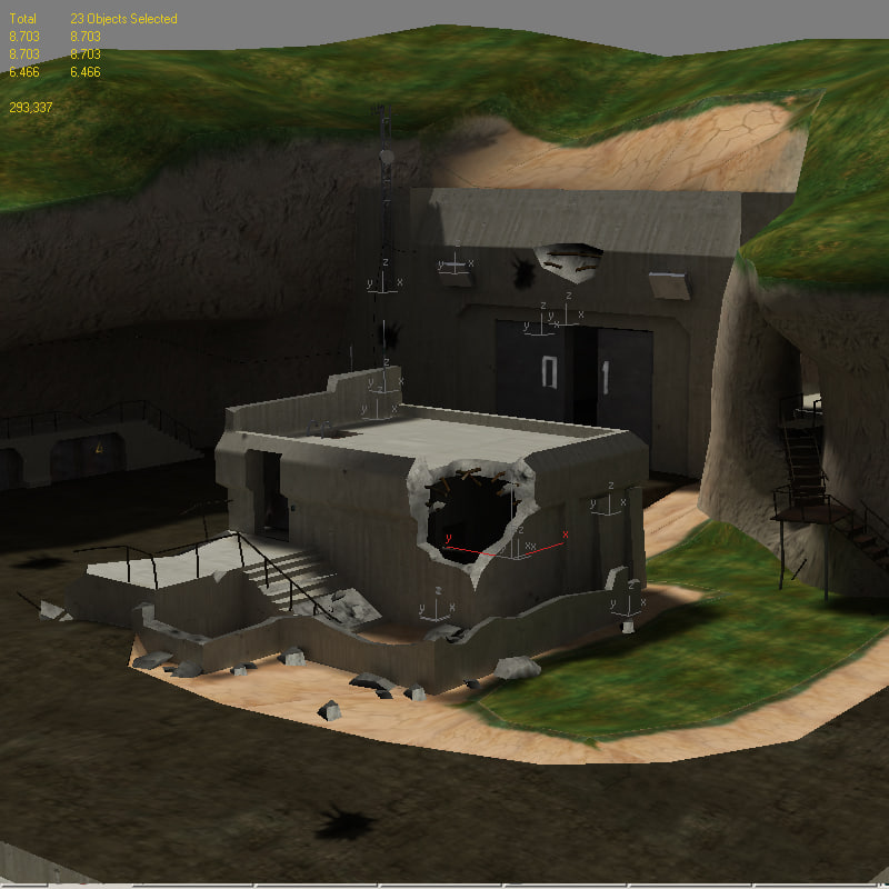 free abandonded military base 3d model