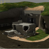3d model abandonded military base