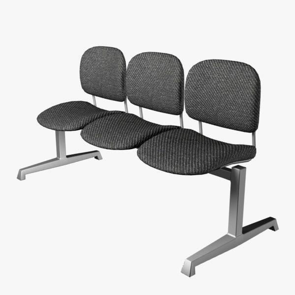 reception chair 3d model