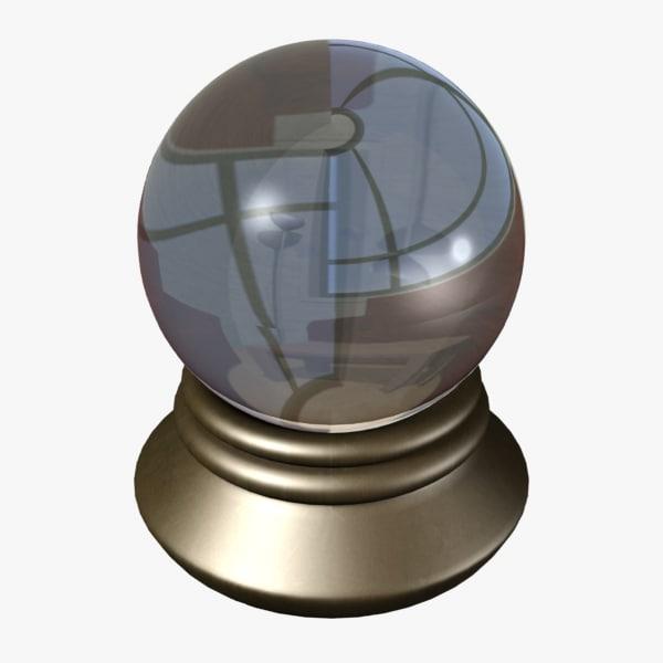3d model of crystal ball
