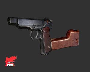 stechkin pistol 3d model