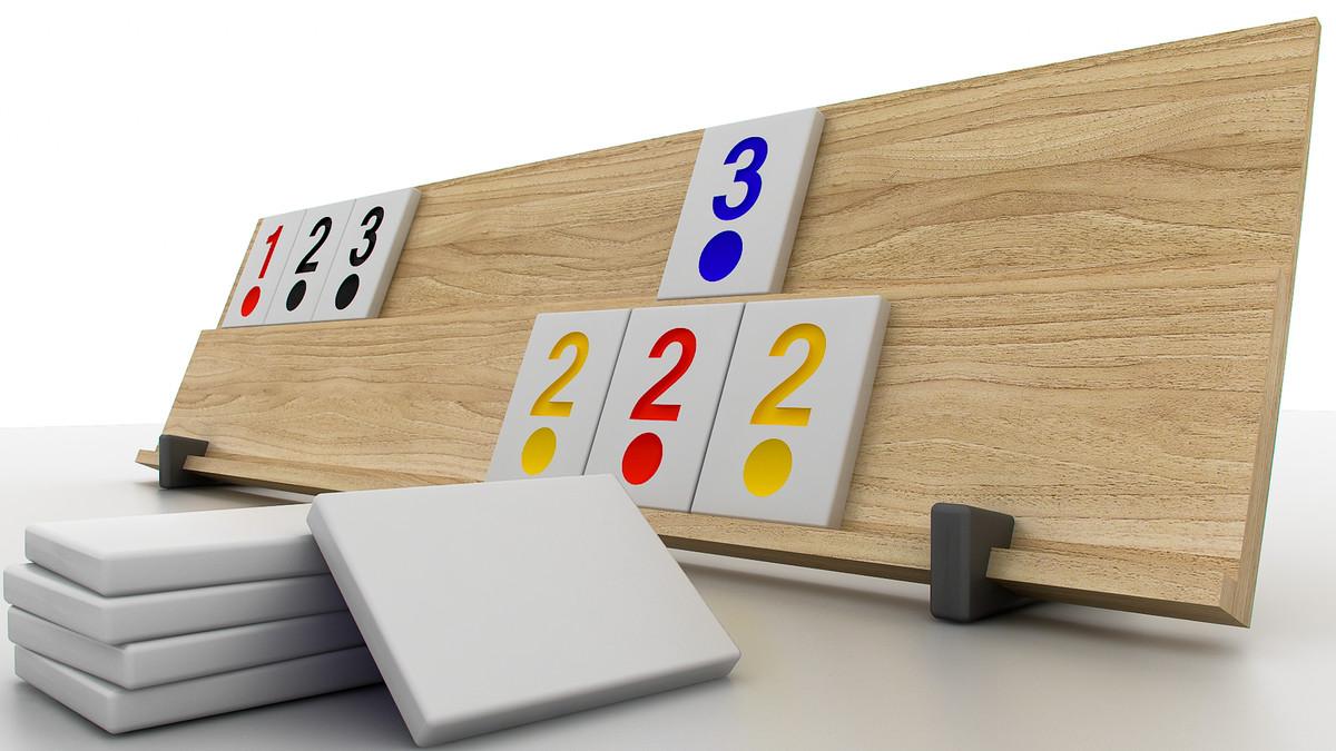 3d model rummy tiles board