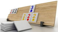 3d model rummy tiles board