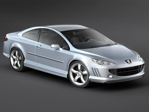3d peugeot 407 coupe sport model. Black Bedroom Furniture Sets. Home Design Ideas
