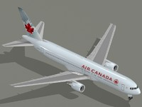 Boeing 767-300 ER Air Canada new colors