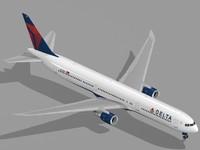 dxf boeing 767-400 er airliner