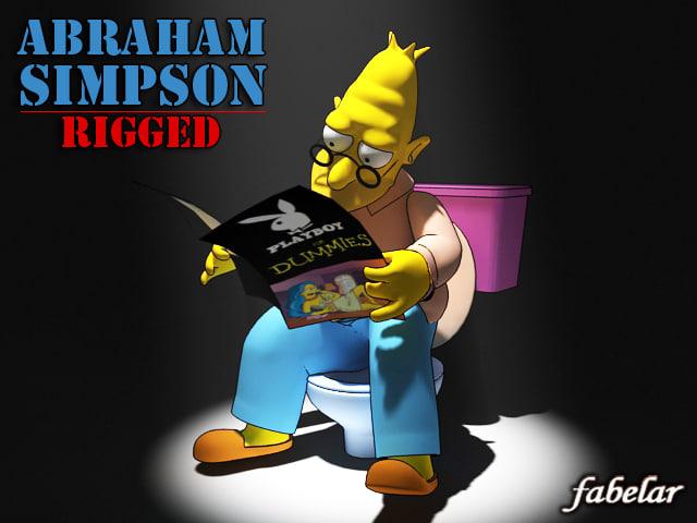3d abraham simpson