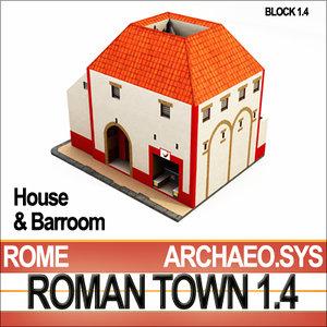 3ds max ancient roman house barroom
