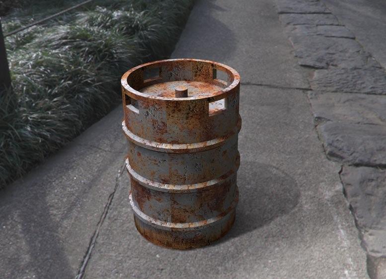 3d metal barrel