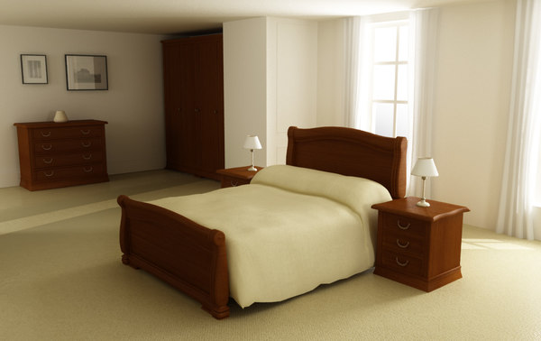 3d model bedroom interior 01a