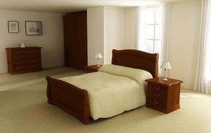 3d model bedroom interior 01a