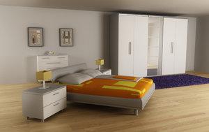 3d bedroom interior 02d