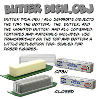 butterdish butter dish 3d model