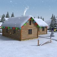max christmas house scene