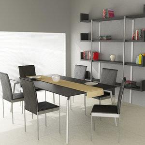dining room interior 01d 3d model