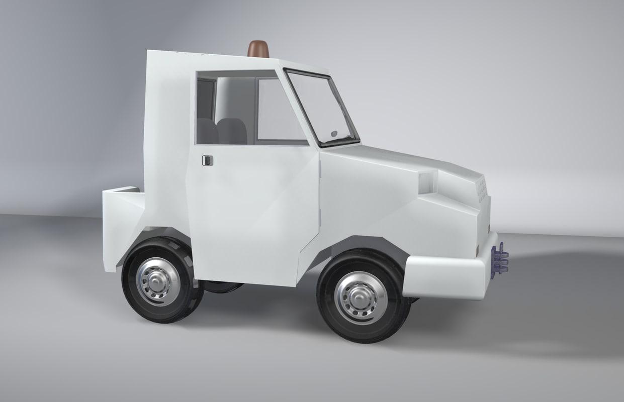 tracteur piste 3d model