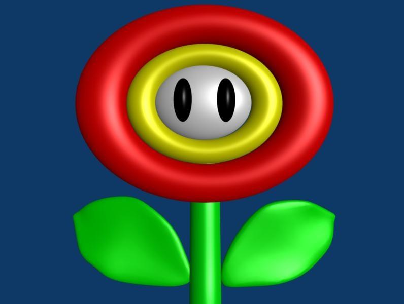 free flower mario 3d model