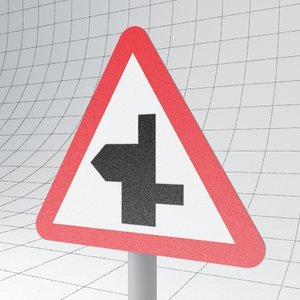 traffic staggered ahead - 3d model