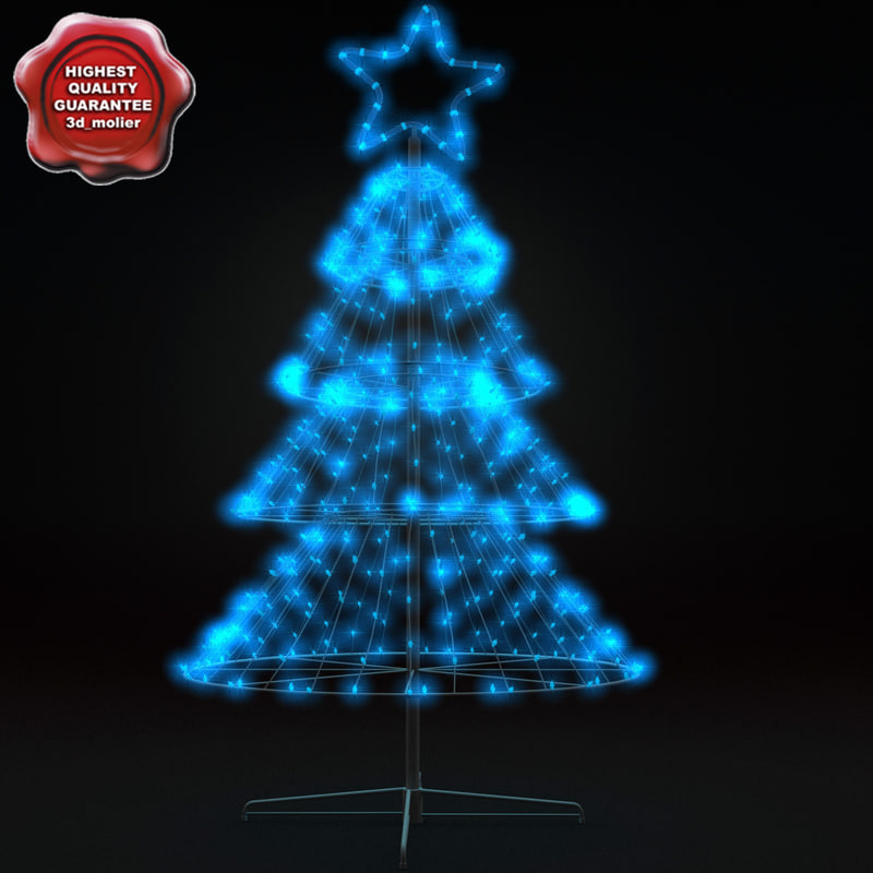 3d model new year tree v10