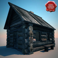 3ds max old wooden house
