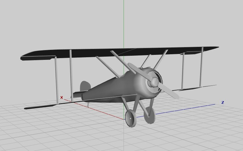 sopwith 3d obj