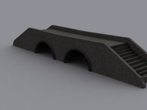 medival stone bridge 3d model
