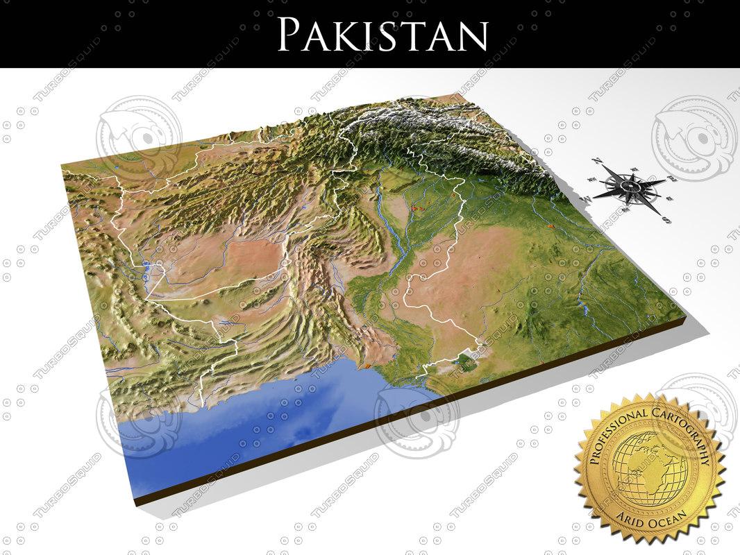relief pakistan 3d model