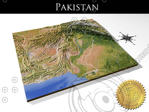 relief pakistan 3d model