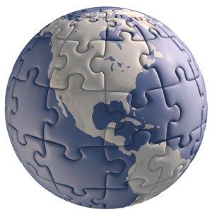 jigsaw puzzle globe 3ds