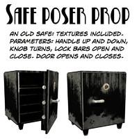 3d model safe poser prop