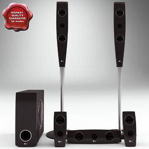 speaker lg xh t762pz 3d 3ds